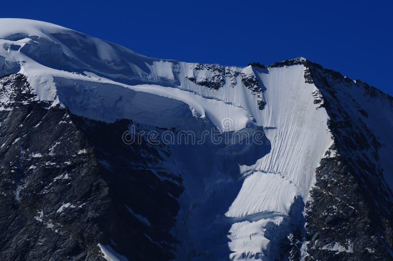 Швейцарец Альпы: Должный к изменению климата ледники плавят стоковое фото rf
