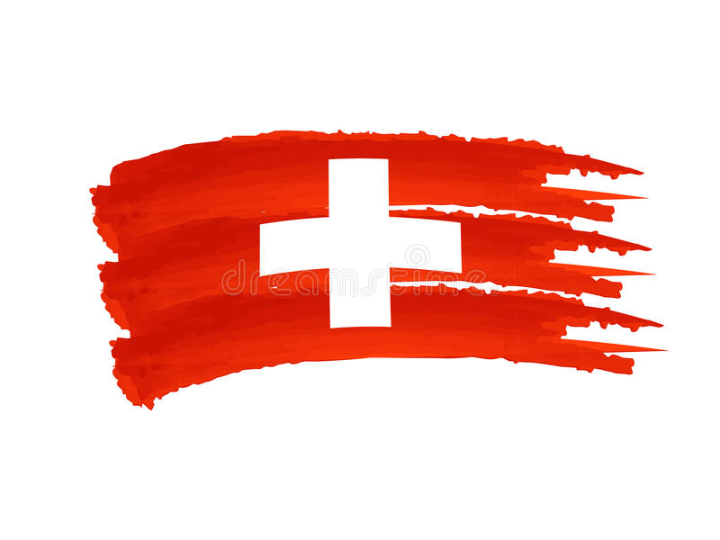 швейцарец флага иллюстрация вектора