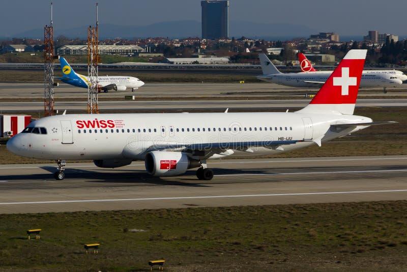 швейцарец a320 airbus стоковое изображение