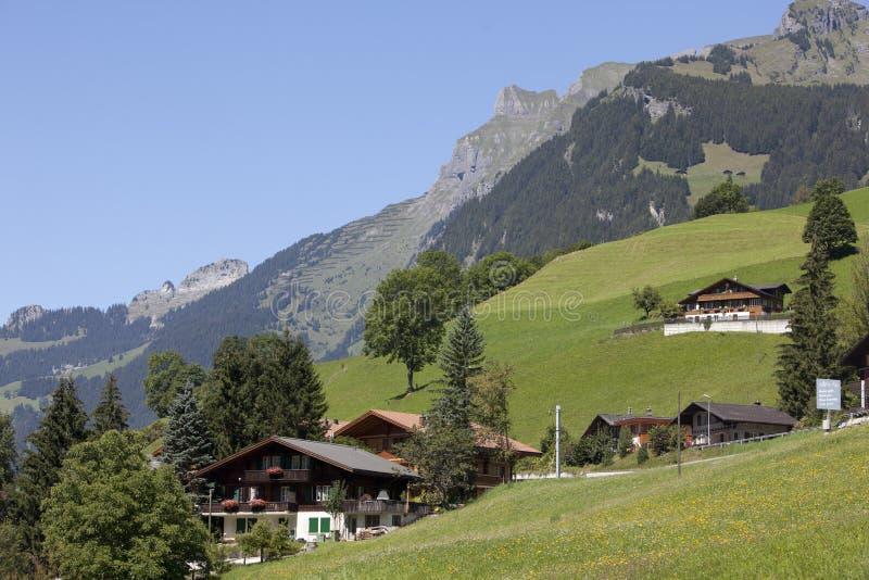швейцарец chalet alps стоковые изображения rf