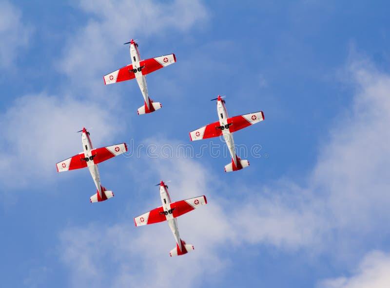 швейцарец pilatus airshow pc7 стоковое изображение