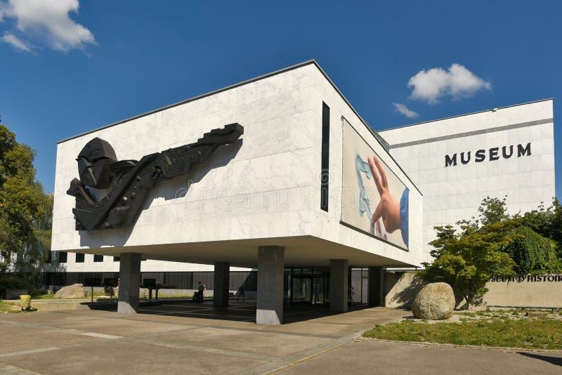 Швейцария Женева, музей natual истории стоковая фотография