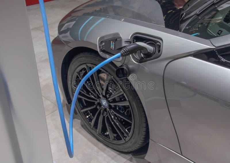Швейцария; Женева; 8-ое марта 2018; Будучи поручанным Coupe BMW i8; 88th международное мотор-шоу в Женеве от восьмого к восемнадц стоковое изображение rf