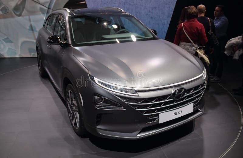 Швейцария; Женева; 8-ое марта 2018; Hyundai NEXO; 88th взаимо- стоковое изображение rf