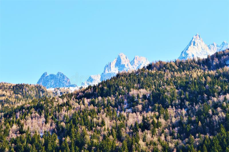 Швейцария и красивые Альпы стоковая фотография rf