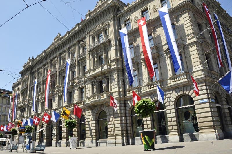 Швейцария: Управление Suisse кредита на Paradeplatz в богачах ¼ ZÃ стоковые изображения