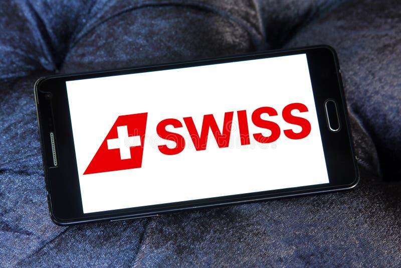Швейцарский логотип авиакомпаний стоковая фотография rf