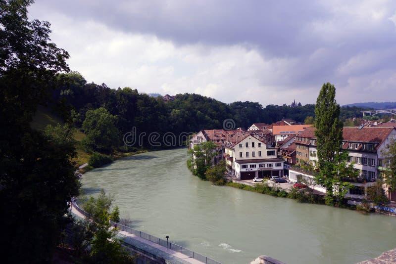 швейцарское село стоковое фото