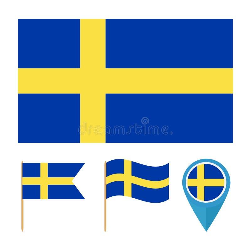 Швеция, вектор флага страны бесплатная иллюстрация