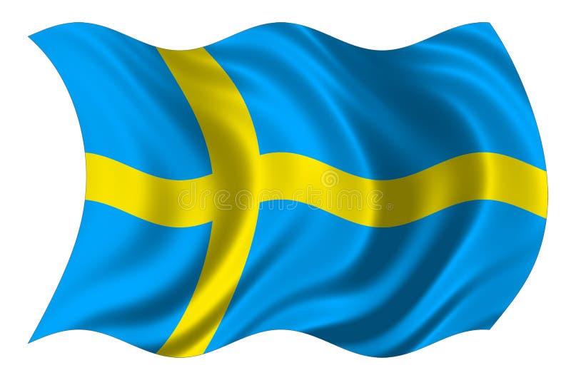 Швеция изолированная флагом стоковое изображение rf