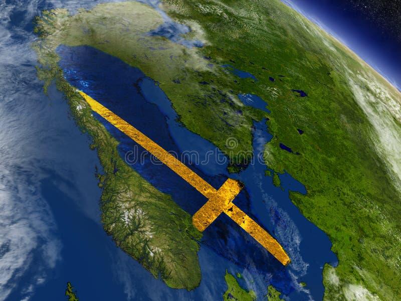 Download Швеция с врезанным флагом на земле Иллюстрация штока - иллюстрации насчитывающей швед, скандинавия: 81803188