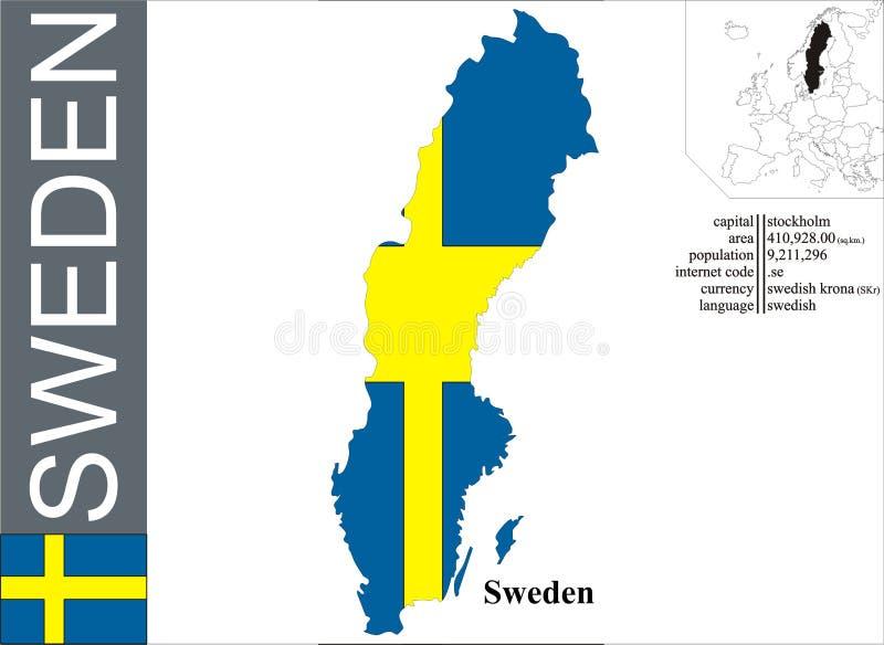 Швеция иллюстрация вектора