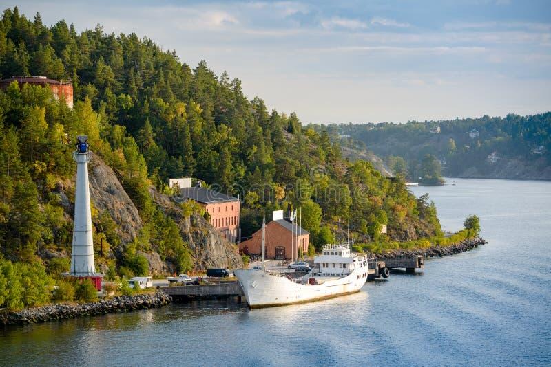 Шведская береговая линия стоковая фотография rf