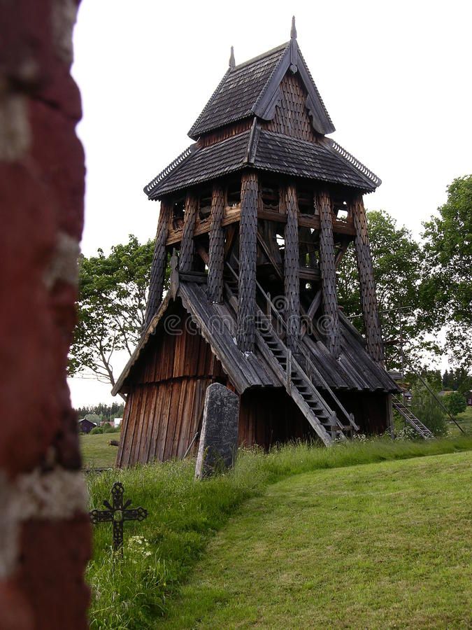 Шведская колокольня стоковое изображение