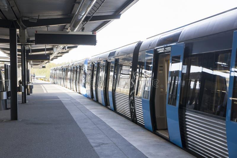 Шведская станция метро стоковое изображение