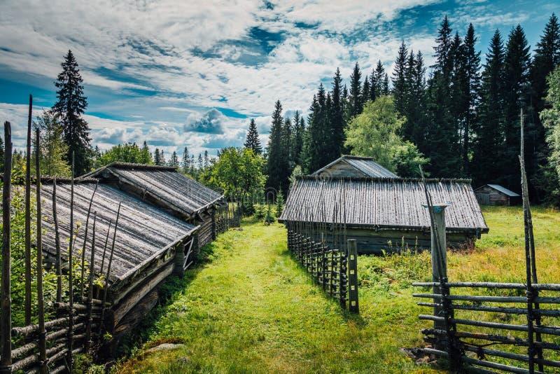 Шведская ферма холма стоковая фотография
