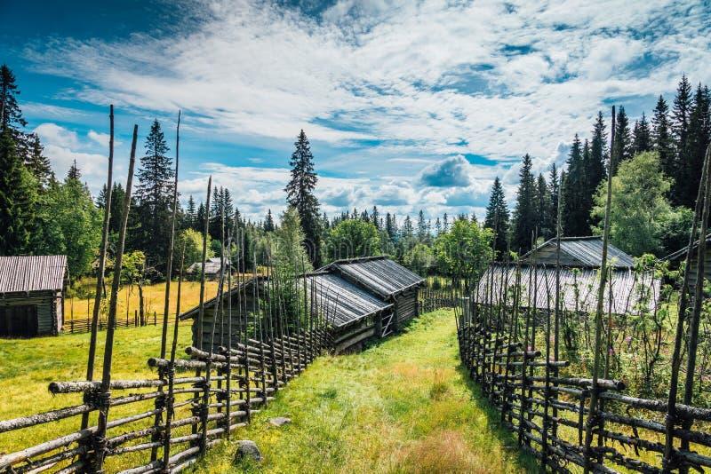 Шведская ферма холма стоковое фото
