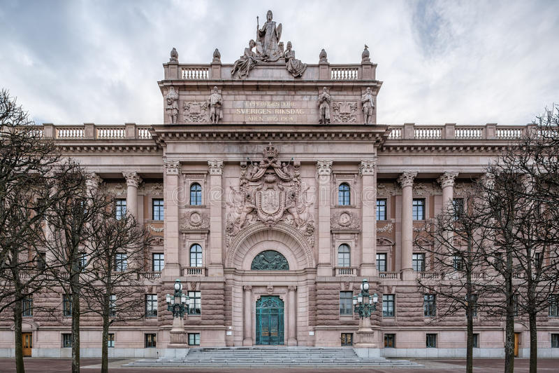 Шведский парламент стоковая фотография rf