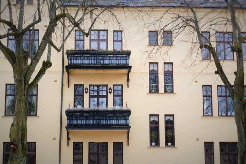 Шведское здание стоковое изображение