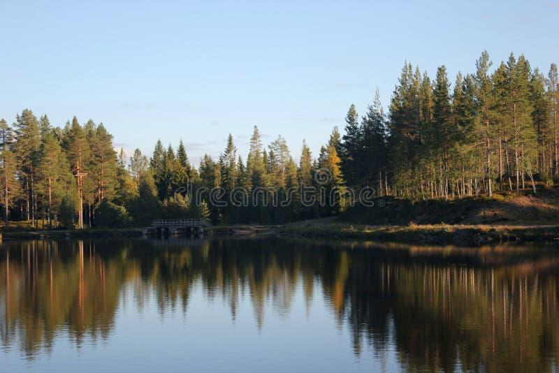 Шведское озеро стоковое изображение rf
