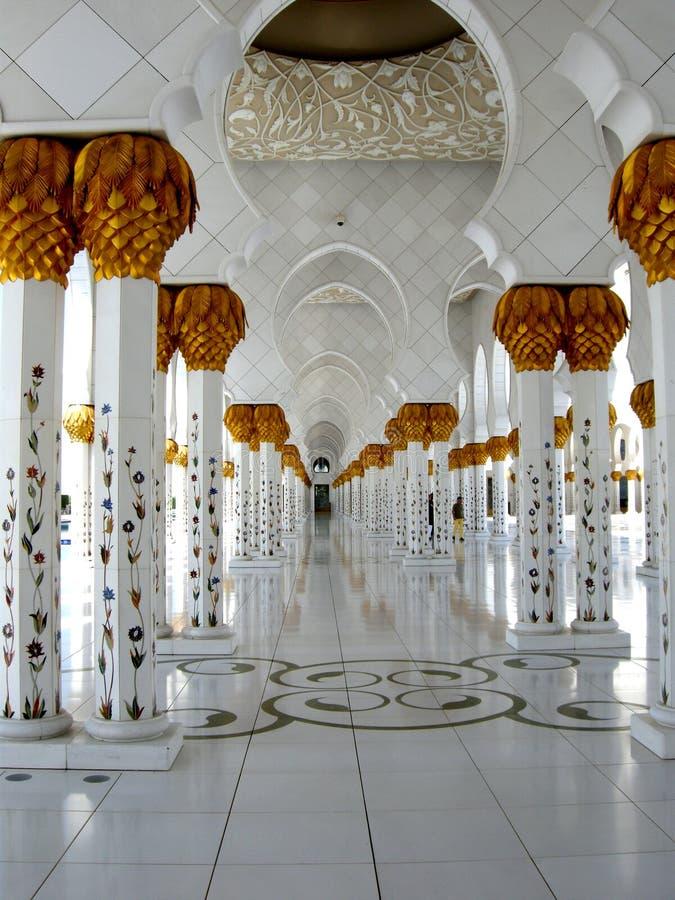Шейх Zayed Мечеть Abu Dhabi стоковые изображения rf