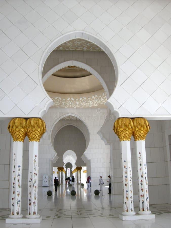Шейх Zayed Мечеть Abu Dhabi стоковые фотографии rf