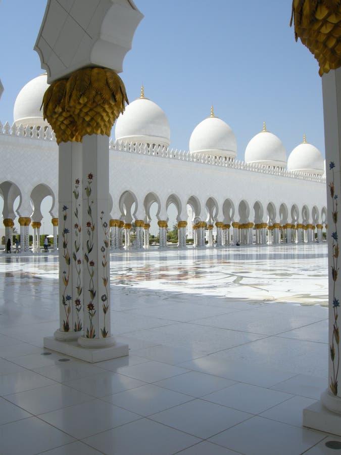 Шейх Zayed Мечеть Abu Dhabi стоковое изображение