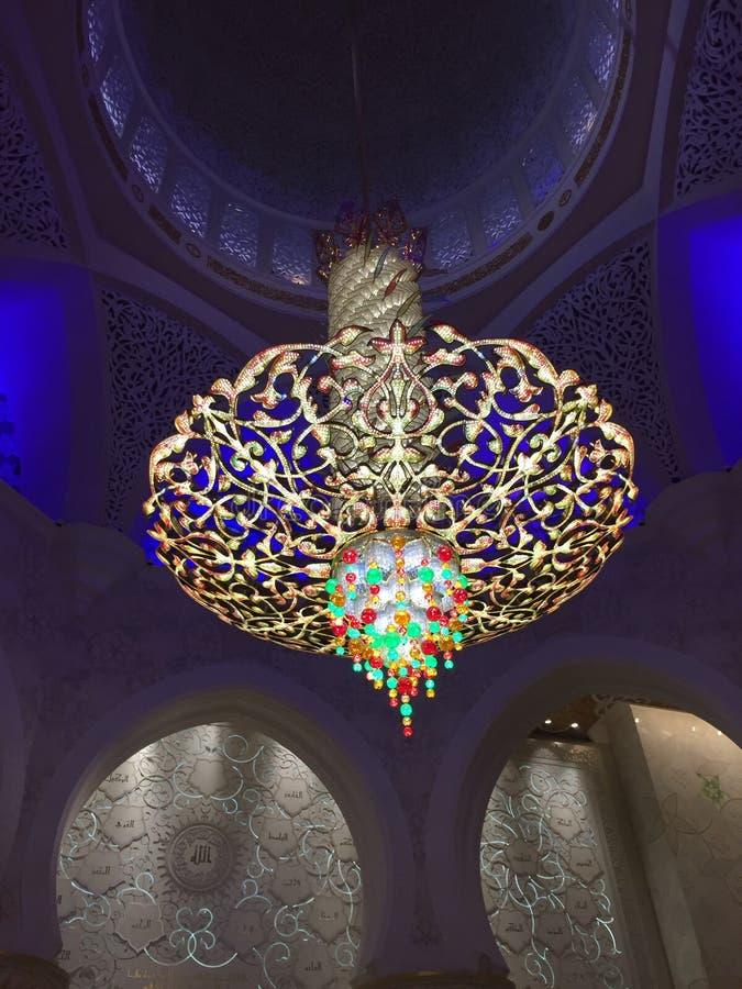 Шейх Zayed Masjid Фонарик стоковое фото rf