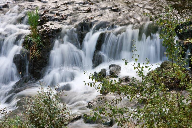 шелковистый водопад стоковая фотография
