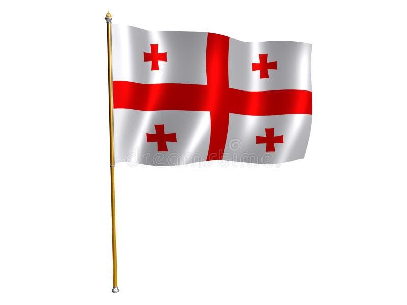 шелк флага georgian бесплатная иллюстрация
