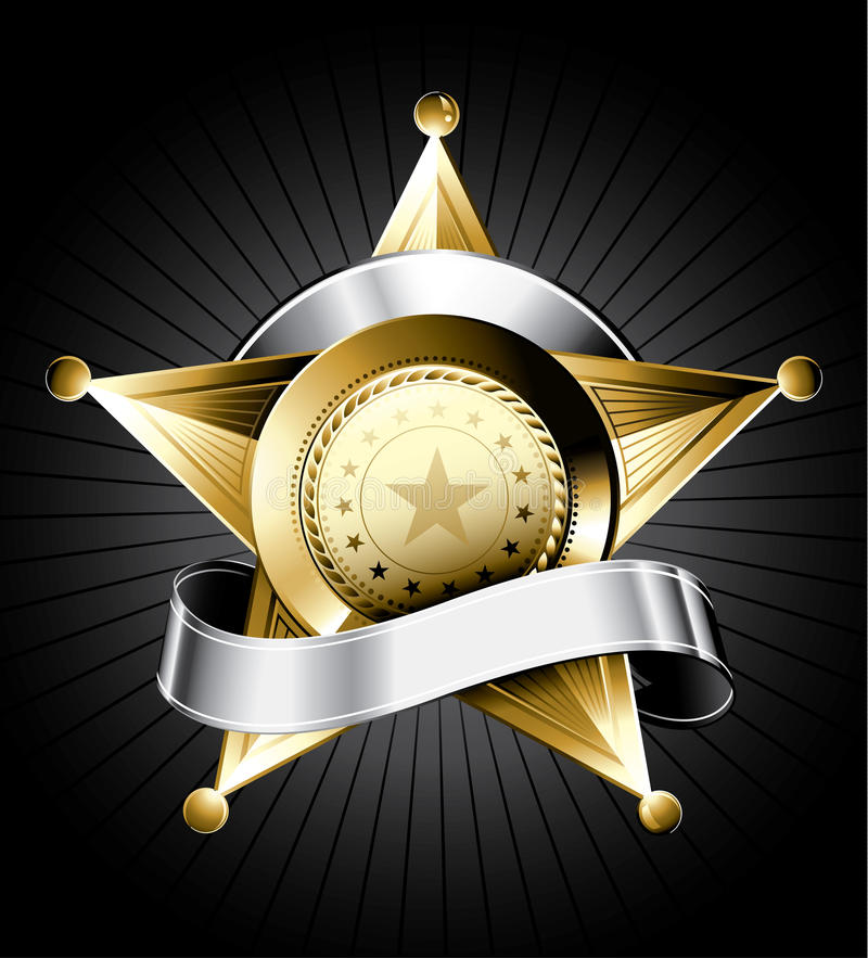 шериф иллюстрации значка иллюстрация вектора