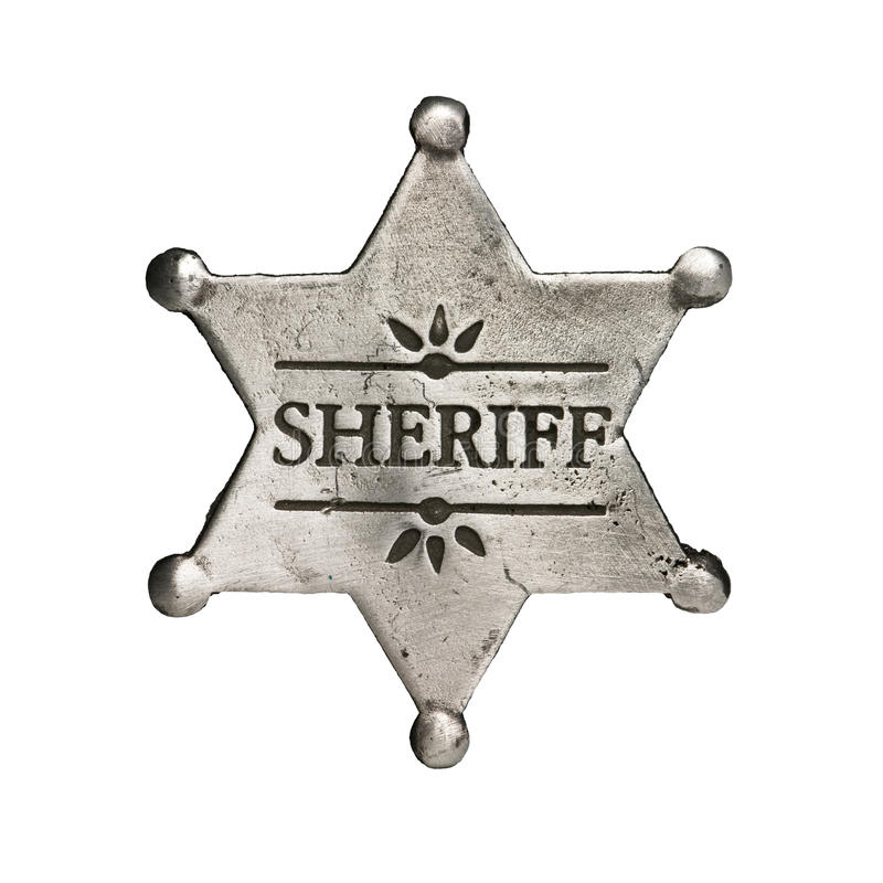шериф стоковая фотография