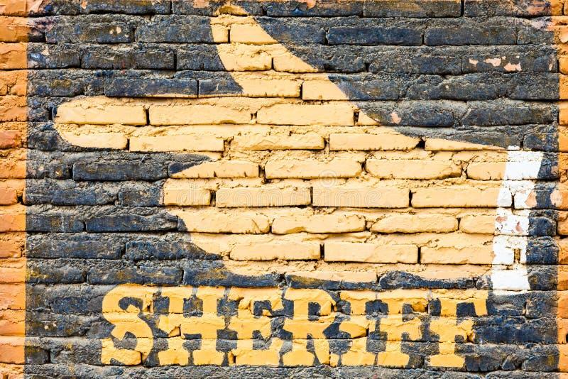 шериф стоковая фотография rf