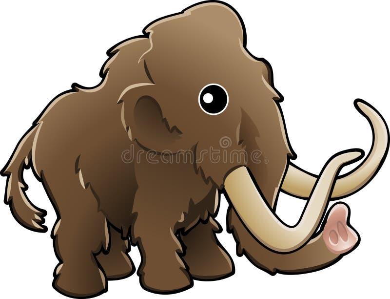 шерстистое милого illustrati мамонтовое иллюстрация вектора
