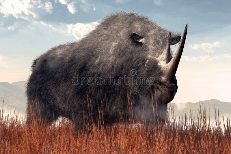 Шерстистый носорог иллюстрация вектора