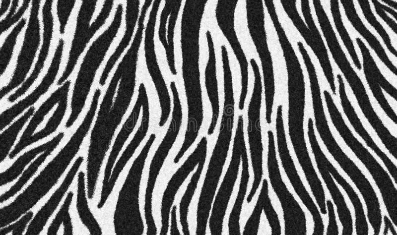 шерсть зебры гладко, ковровый зебра волосатый фон, черно-белая текстура, выглядят гладко, гладко и мягко иллюстрация штока