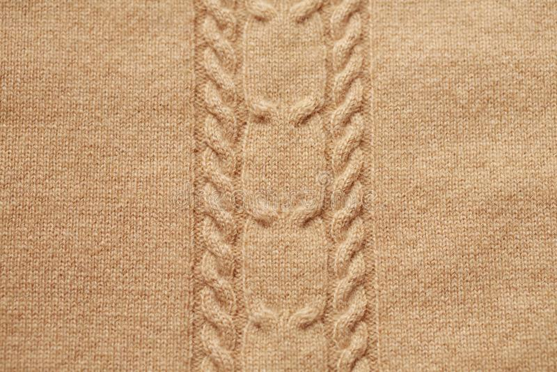 шерстяное предпосылки связанное коричневым цветом стоковое фото