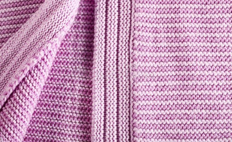 Шерстяной розовый свитер стоковая фотография rf