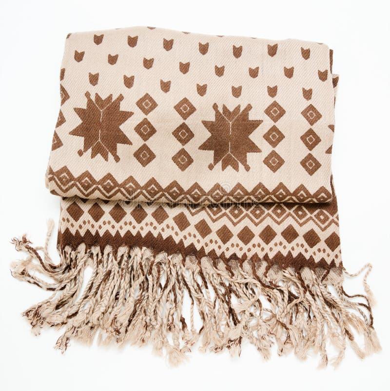 Шерстяной шарф с краем стоковое фото rf