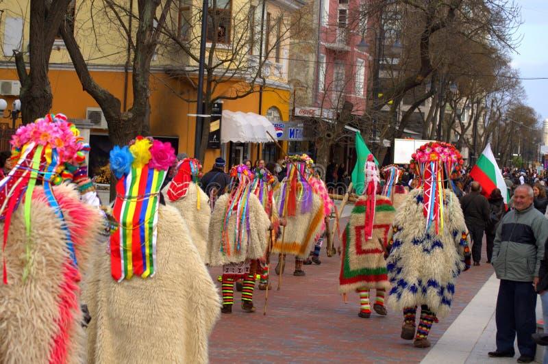 Шествие улицы масленицы Варны красочное стоковые фотографии rf