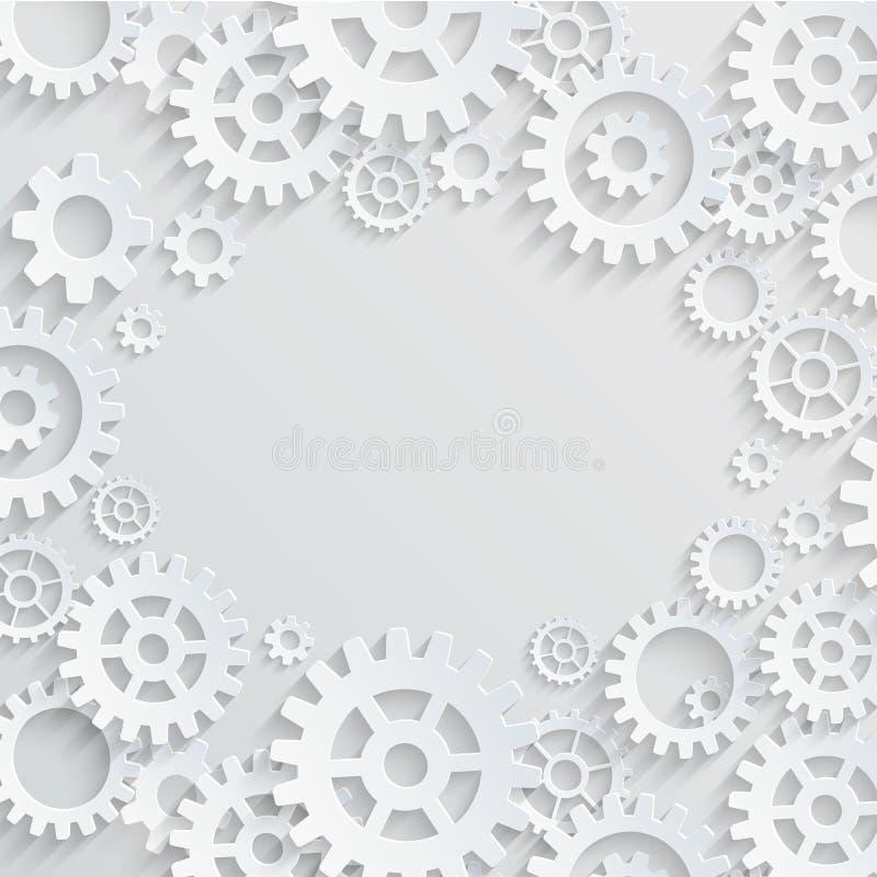 Шестерни вектора и предпосылка cogs абстрактная иллюстрация штока