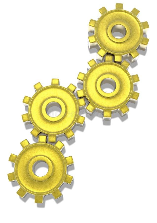 Шестерни золота стоковое фото rf