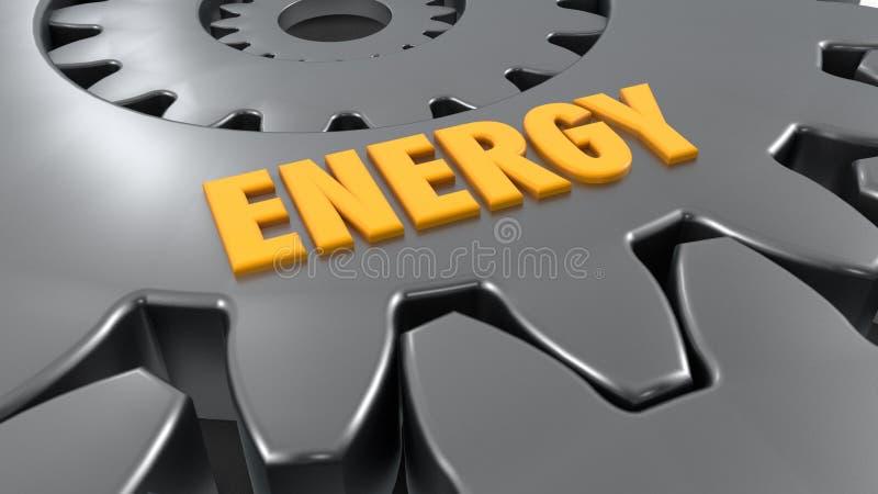 Шестерни и энергия слова бесплатная иллюстрация