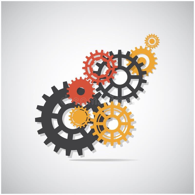 Шестерни, колесики и cogwheels, механизм машины бесплатная иллюстрация