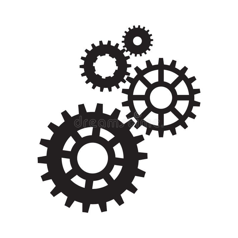 Шестерни, колесики и cogwheels, механизм машины иллюстрация штока