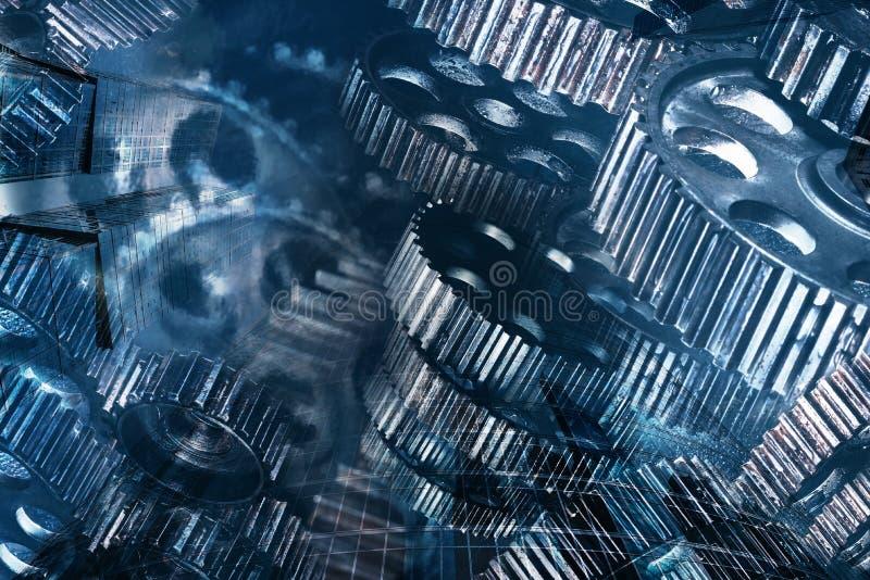 Шестерни металла различных размеров стоковая фотография