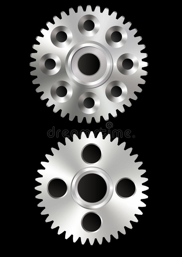 Шестерни металла иллюстрация вектора