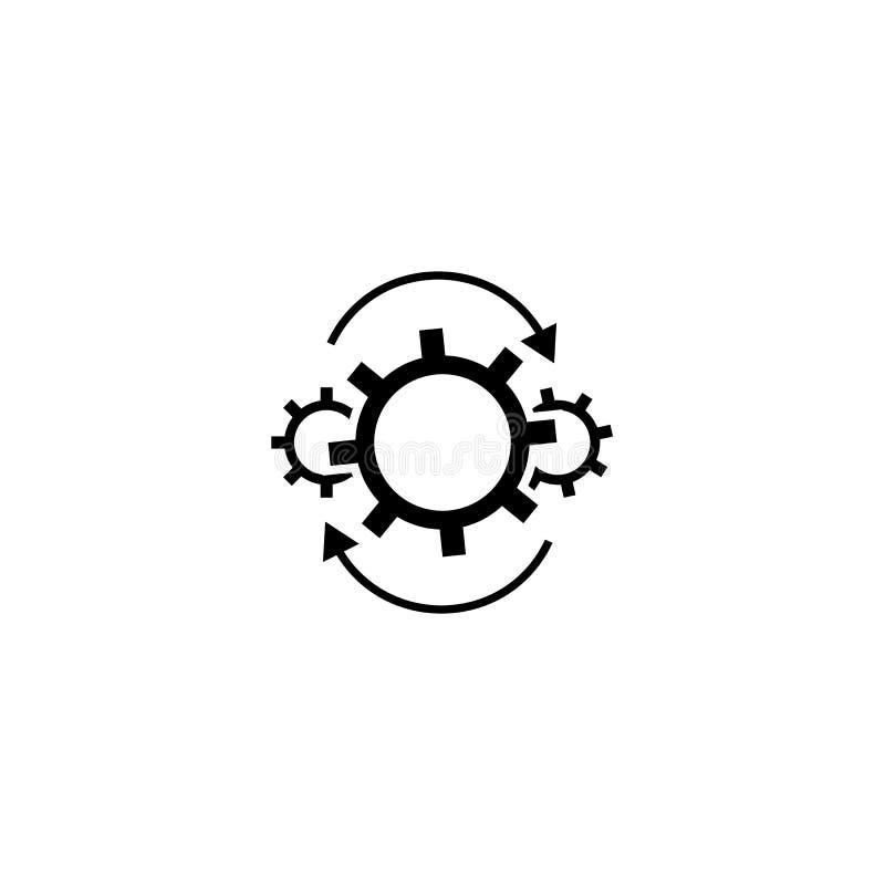 Шестерни потока операций со значком стрелок иллюстрация вектора
