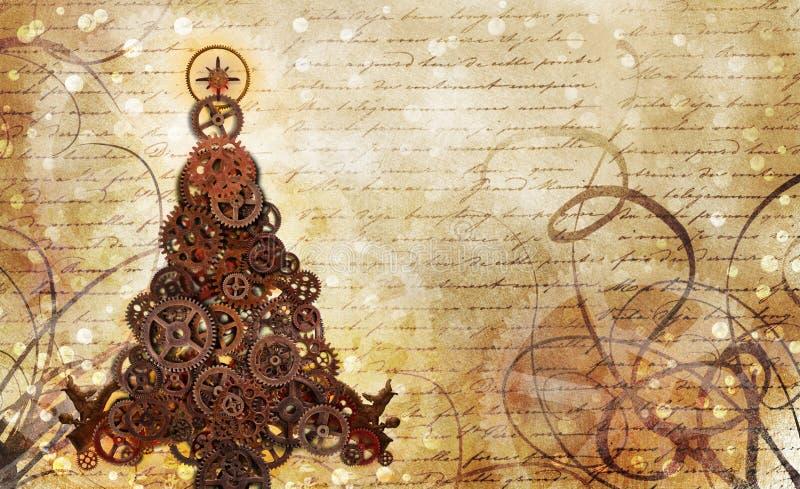 Шестерни рождественской елки бесплатная иллюстрация