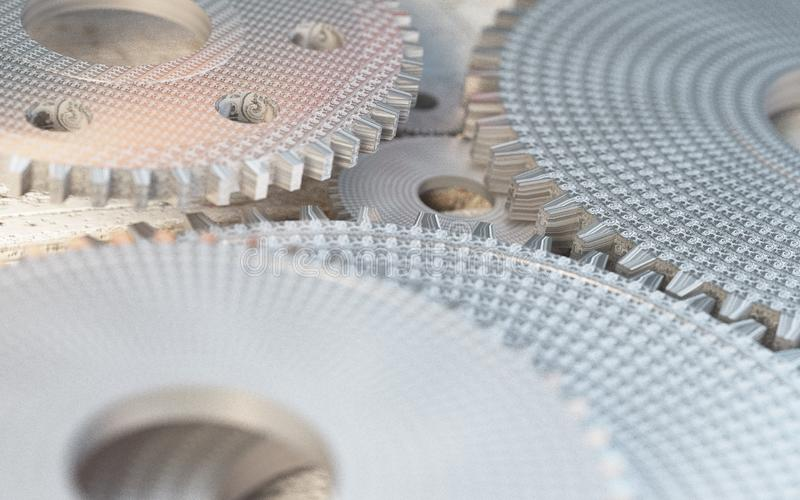 Шестерни технологии машины ретро bacground механизма gearwheel стоковое изображение